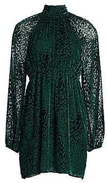 A.L.C. Women's Nadia Velvet Burnout Mockneck Dress