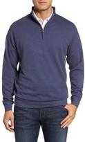 Peter Millar Men's Crown Comfort Jersey Quarter Zip Pullover