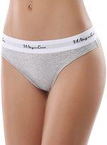 WingsLove 3 Pack Women Seamless Cotton Sexy String Tangas Thong Panties Underwear (S, Fuchsia)