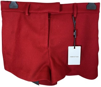 Valentino Red Red Cotton Shorts for Women