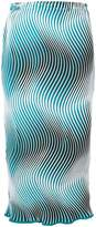 Issey Miyake wave stripe midi pencil skirt
