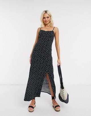 ASOS DESIGN cami maxi dress in polka dot