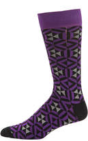 Jared Lang Geo Triangle Mercerized Cotton-Blend Socks