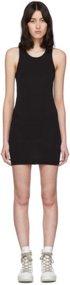 Rick Owens Black Rib Tank Short Dress
