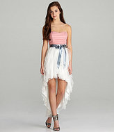 Teeze Me Strapless Ruffle Hi-Low Dress