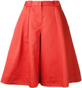Jil Sander Navy wide-leg cropped trousers