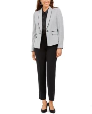 Le Suit Shawl-Collar Straight-Leg Pants Suit
