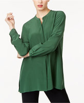 Eileen Fisher Tencel® Blend Mandarin-Collar Boxy Tunic