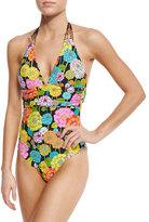 Trina Turk Santiago Halter One-Piece Swimsuit
