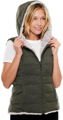 Be Boundless Women's Faux-Fur Hooded Quilted Reversible Vest