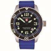 Swiss Military Men's Navy 42mm Silicone Band Swiss Quartz Watch 27021