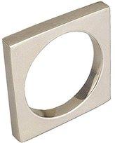 Design Imports Decorative Square Napkin Ring Silver