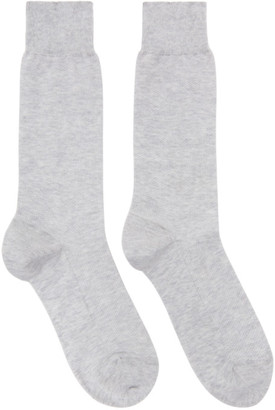 Ermenegildo Zegna Grey Summer Oxford Socks