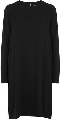Eileen Fisher Black silk and jersey dress