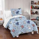 Dream Factory Dog Dreams Twin Reversible Comforter Set in Blue