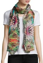 Bindya Abstract Animal-Print Scarf