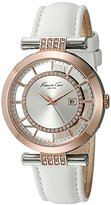 Kenneth Cole New York Women's 10021107 Transparency Analog Display Japanese Quartz White Watch
