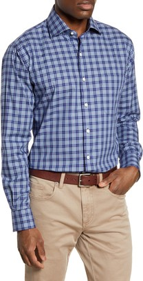 Peter Millar Crown Ease Ambler Regular Fit Plaid Button-Up Shirt