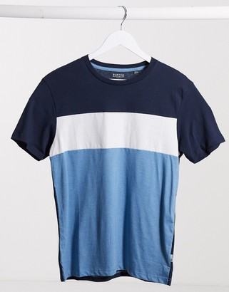 Burton Menswear cut and sew t-shirt in navy