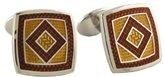 David Donahue Sterling Silver Square Diamond Cufflinks - (H95539602)