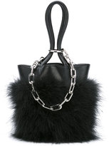 Alexander Wang feather trim chain tote - women - Calf Leather/Feather - One Size