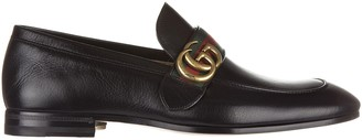 Gucci Metal Logo Loafers