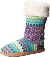 Dearfoams Women's Tall Patchwork Winter Boot