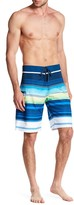 Burnside Striped Colorblock Board Short