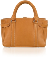 Buti Side Snaps Calf Leather Satchel Bag