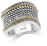 Effy 14K Yellow Gold, 925 Sterling Silver and Diamond Ring