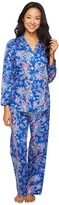 Lauren Ralph Lauren Petite Sateen Notch Collar Pajama