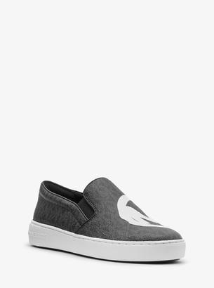 MICHAEL Michael Kors Keaton Printed Logo Slip-On Sneaker