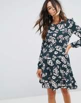 Brave Soul Floral Frill Dress