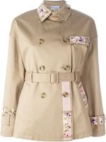 RED Valentino floral embroidery trench coat