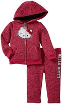 Hello Kitty Sweat Suit Set (Baby) - Passion Fruit-6-9M