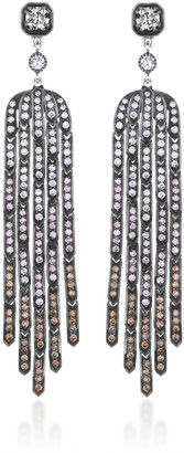 Sethi Couture Fringe Ombre Diamond 18K White Gold Earrings