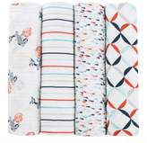 Tea Collection and aden + anais® aden + anais® Tea Collection Fish Pond 4-Pack Muslin Swaddle Blankets