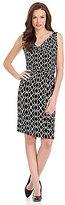 Jones New York Signature Petites Geometric-Print Dress
