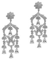 Nina Kailey Delicate Floral Cubic Zirconia Chandelier Earrings