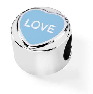 Love Hearts Official Sterling Silver & Blue Enamel LOVE Charm