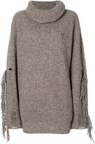 Stella McCartney tassel-trimmed turtleneck knit
