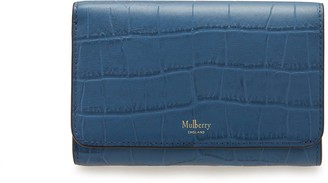 Mulberry Medium Continental French Purse Pale Navy Matte Croc