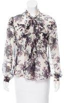 Zac Posen Floral Print Blouse
