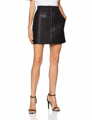 French Connection Women's Faux Leather Skirt