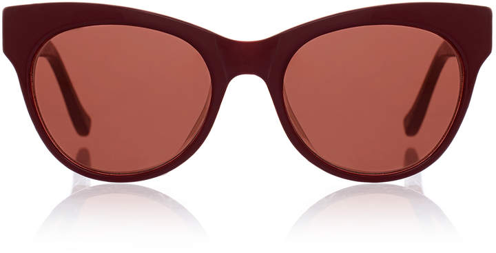 The Row Plum Cat-Eye Leather and Acetate Sunglasses