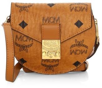 MCM Patricia Visetos Crossbody Wallet On Strap
