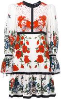 Alexander McQueen floral tablecloth empire line dress - women - Silk - 40