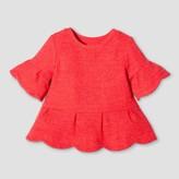 Genuine Kids from OshKosh Toddler Girls' Rib Peplum Top - Genuine Kids from OshKosh® Rocker Red