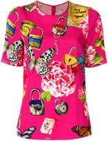 Dolce & Gabbana garden lock print T-shirt