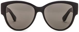 Saint Laurent Vintage Cat Eye Sunglasses in Black & Grey   FWRD